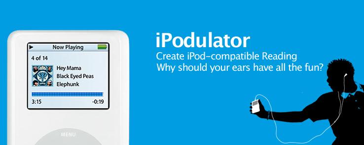 iPodulator: Create iPod-compatible Reading